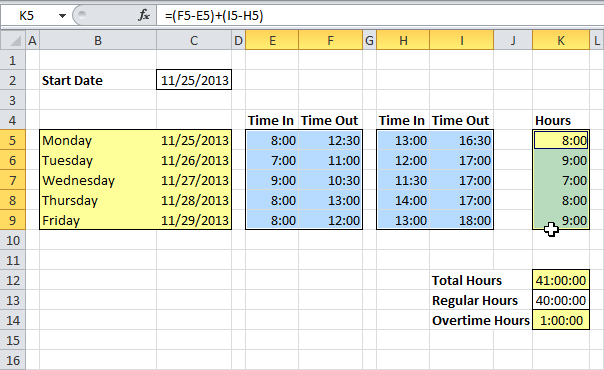 excel timesheet calculator formula koni polycode co