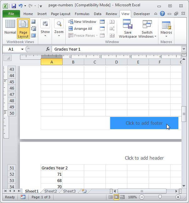 Excel номера страниц - фото 8