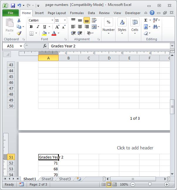 Excel номера страниц - фото 11