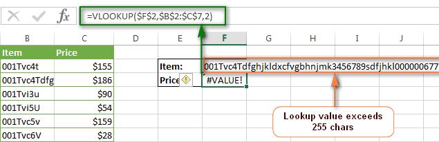 Google spreadsheet vlookup error