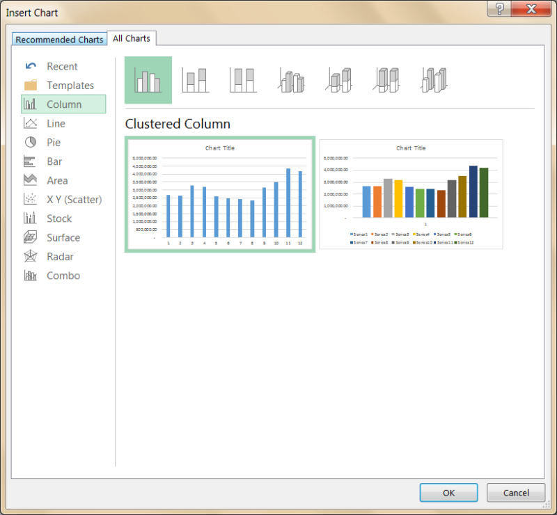 Excel Chart Templates 2013