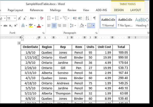 Как пронумеровать строки в таблице word