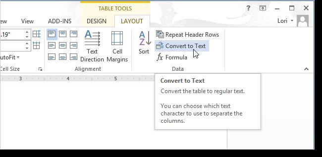 Преобразуем текст в таблицу в Word