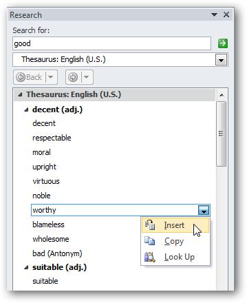 Для словари microsoft 2010 word