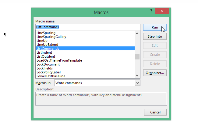 Как создать макрос список