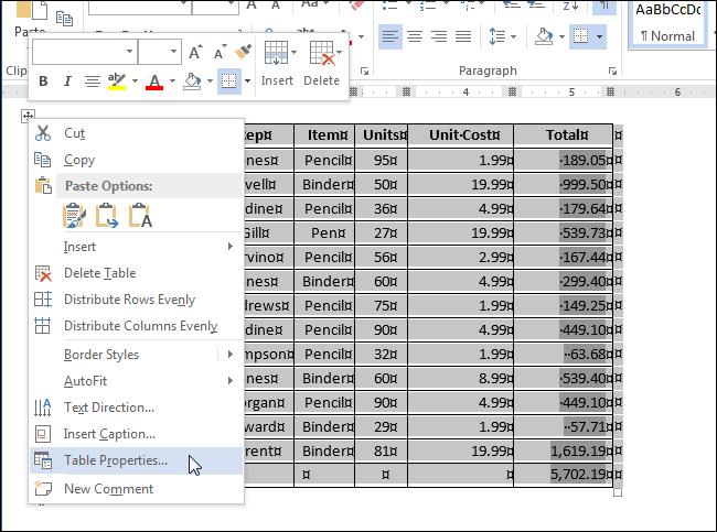 Фиксируем размер ячеек в таблице Word