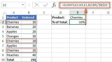 Как посчитать процент в Excel?