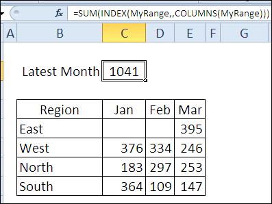 30 функций Excel за 30 дней: ЧИСЛСТОЛБ (COLUMNS)