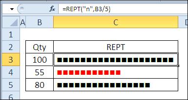 30 функций Excel за 30 дней: ПОВТОР (REPT)