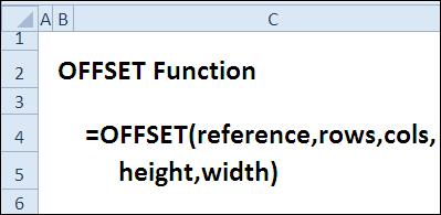 30 функций Excel за 30 дней: СМЕЩ (OFFSET)