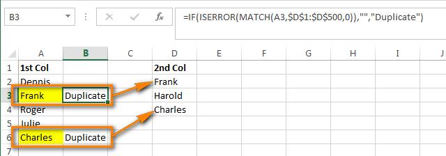 Как в Excel сравнить два столбца и удалить дубликаты (выделить, раскрасить, переместить)