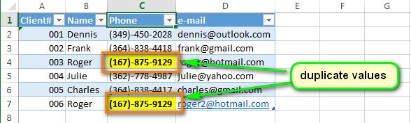Как настроить автоматическое выделение дубликатов в Excel