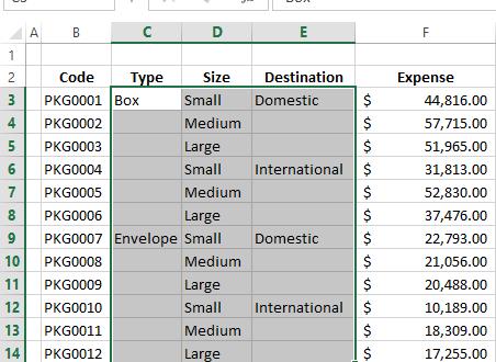 Как в Excel заполнить пустые ячейки нулями или значениями из ячеек выше (ниже)