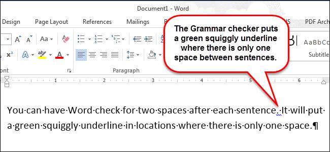 Как в Word 2013 автоматически вставлять два пробела после точки