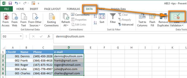 Как избежать появления дубликатов в столбце на листе Excel