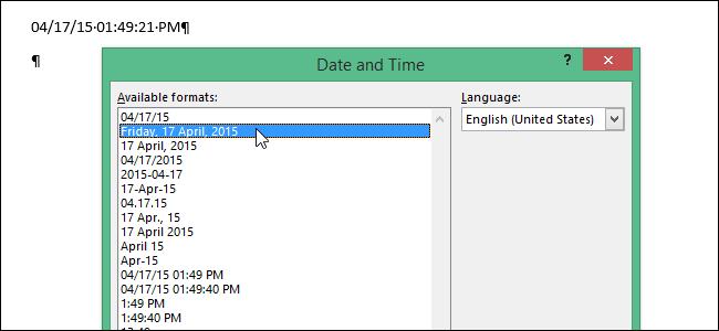 Как в Word настроить полный и краткий форматы даты и времени, заданные по умолчанию