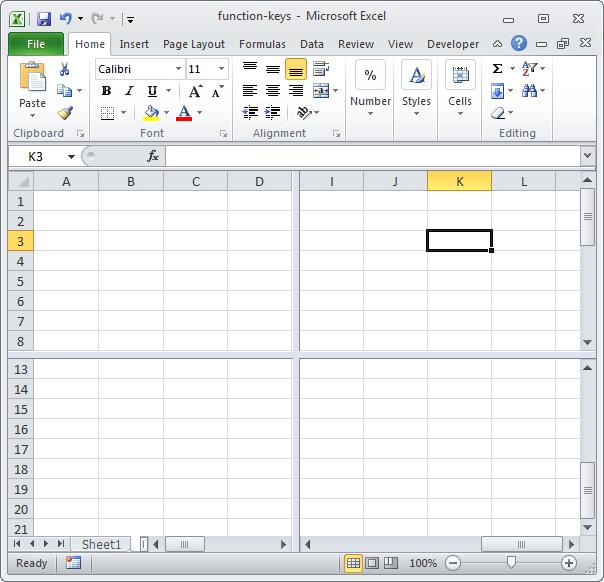 Функциональные клавиши в Excel