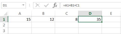 Суммирование в Excel
