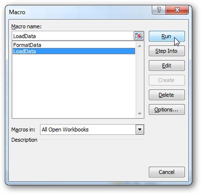 Макросы в Excel