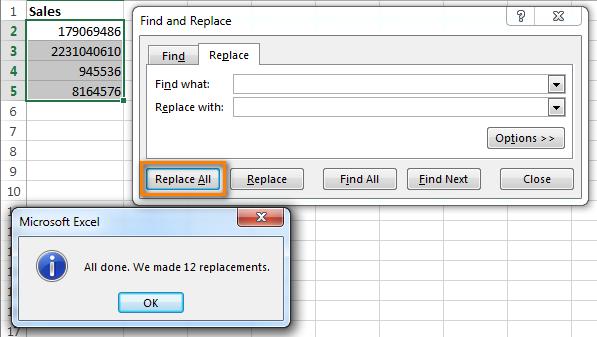 Удаляем лишние пробелы в Excel