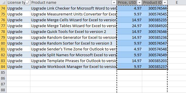 Перемещаем столбец в Excel