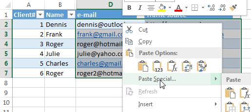 Удаляем гиперссылки в Excel