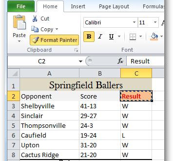 Формат по образцу – простой способ копировать форматирование в Excel