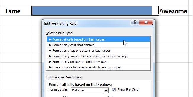 Как создать индикатор процесса в Excel с помощью условного форматирования