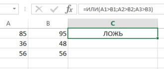 Используем логические функции Excel для задания сложных условий