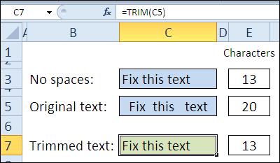 30 функций Excel за 30 дней: СЖПРОБЕЛЫ (TRIM)