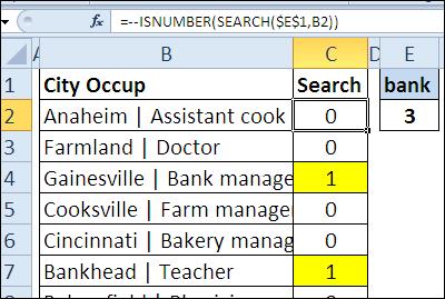 30 функций Excel за 30 дней: ПОИСК (SEARCH)