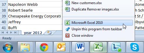 Как открыть файлы Excel 2010 в отдельных окнах