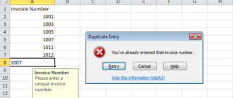 Предотвращение дублирования записей в Excel