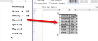 Как в Word 2013 преобразовать текст в таблицу и обратно