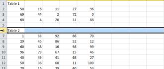 Разрывы страниц в Excel