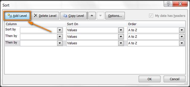 Как в Excel сортировать по строке, по столбцу и по настраиваемому списку
