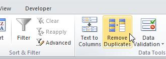 Как удалить дубликаты в Excel