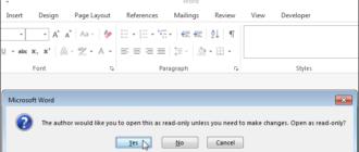 Как сделать так, чтобы Word предлагал пользователям открывать документ в режиме «Только для чтения»
