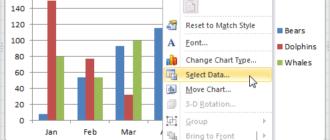 Диаграммы в Excel: Ряд данных