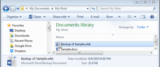 Как в Word при сохранении документа автоматически создавать его резервную копию