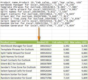 Конвертировать CSV в Excel в виде таблицы