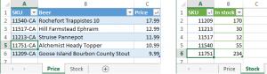 Как объединить таблицы с частичным совпадением в Excel