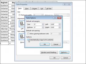 Как зафиксировать размер ячеек таблицы в программе MS Word