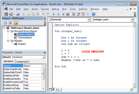 Редактор Visual Basic