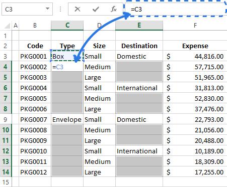 Несколько простых методов заполнения ячеек без текста в Excel