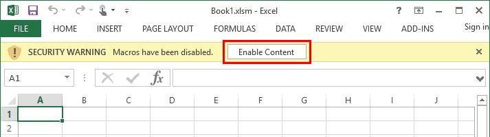 Безопасность макросов Excel