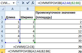 Функция СУММПРОИЗВ в Excel - применение, синтаксис, примеры