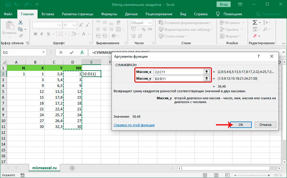 metod-naimenshih-kvadratov-v-excel