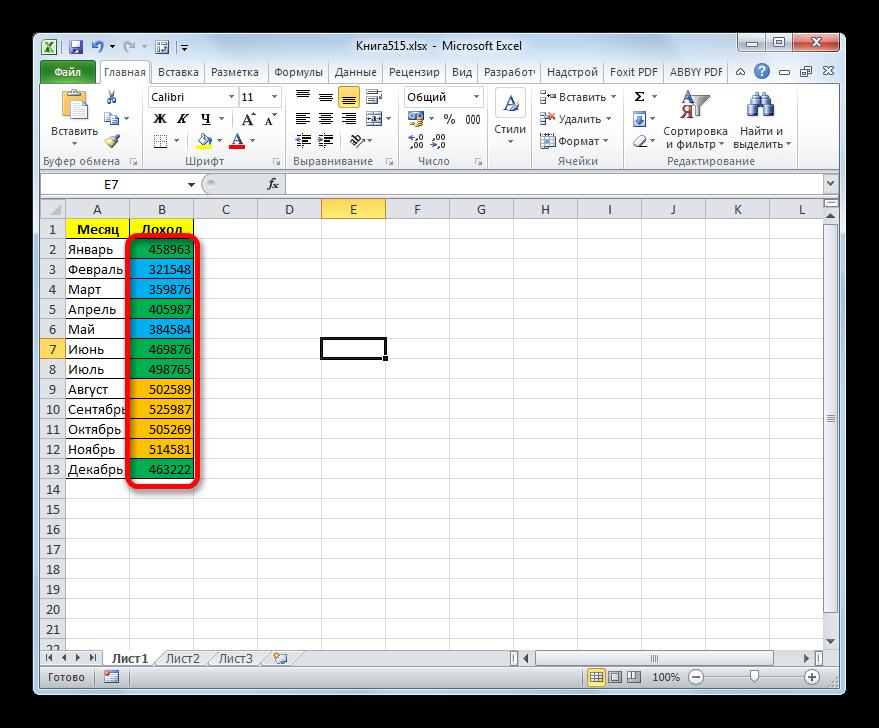 """Как """"раскрасить"""" ячейку в зависимости от ее значения в таблице Excel"""