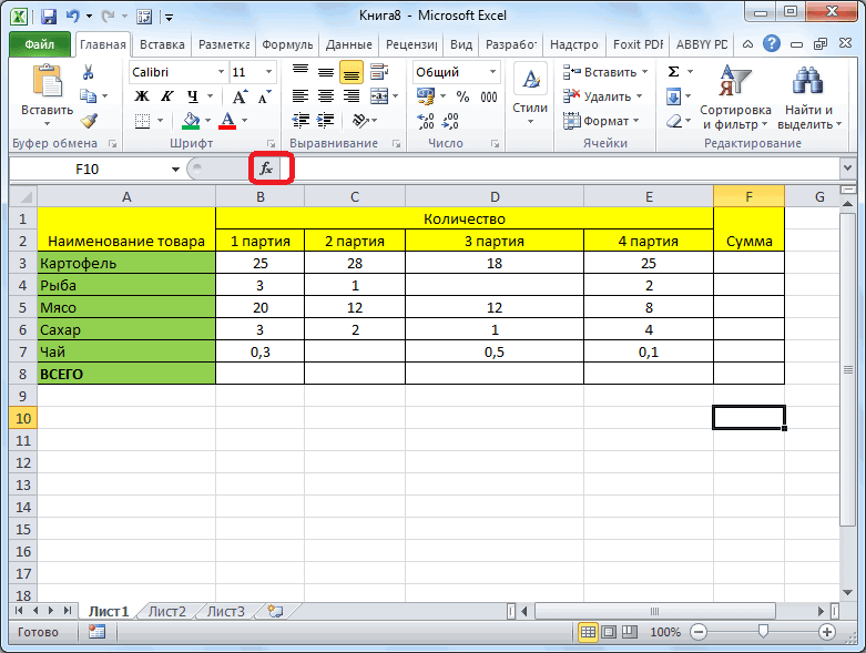 Как быстро посчитать итоги в таблице Excel